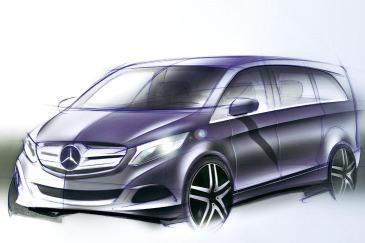 Mercedes-Benz V-Serisi Dış Eskiz