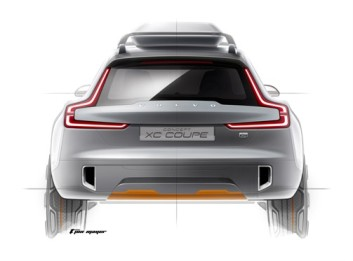 Volvo XC Coupe Teaser Arka