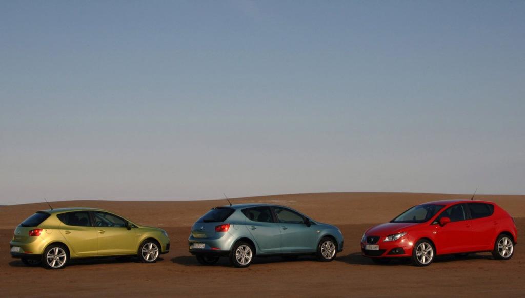 Seat Ibiza (2009), ilginç renk seçenekleri ile dikkat çekici.