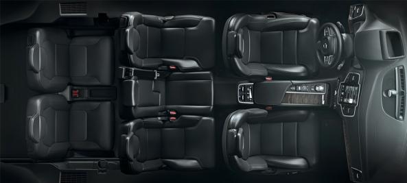 Volvo XC90 İç Kuş Bakışı